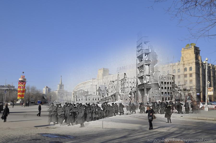 48.Сталинград 1943-Волгоград 2013. Пленные гитлеровцы на Площади павших бойцов