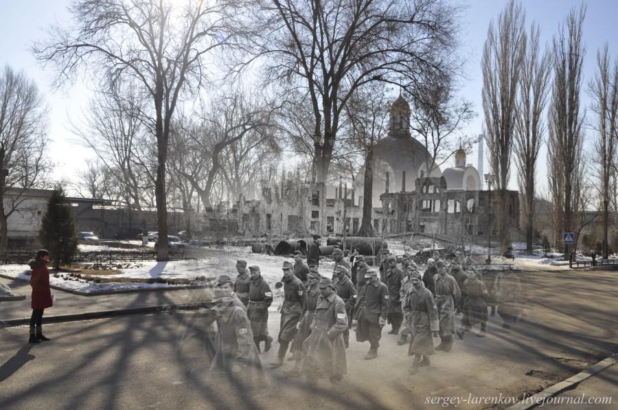 49.Сталинград 1943-Волгоград 2013.Пленные гитлеровцы на заводе Красный Октябрь