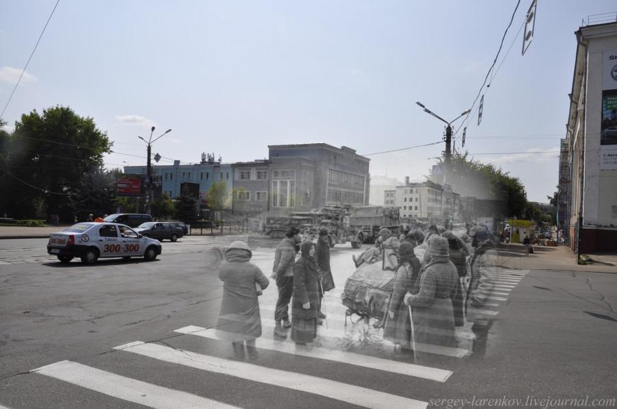 05.Smolensk 1941-2013 residentes Plaza de la Victoria están buscando extender la tecnología alemana