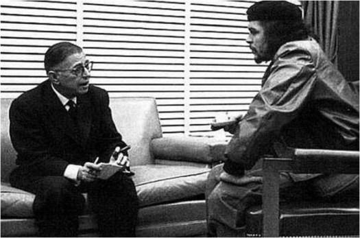 Che Guevaraand Jean-Paul Sartre