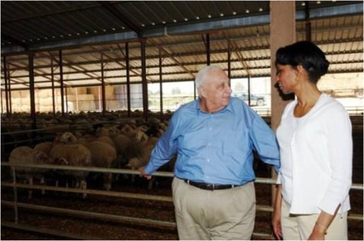 Avec Condoleezza Rice � la ferme des Shikmim �