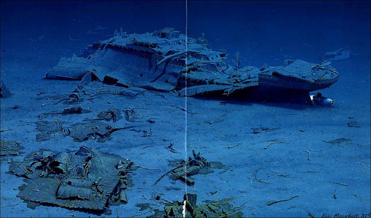 затонувший корабль титаник фото поздравляем кэмерон днем