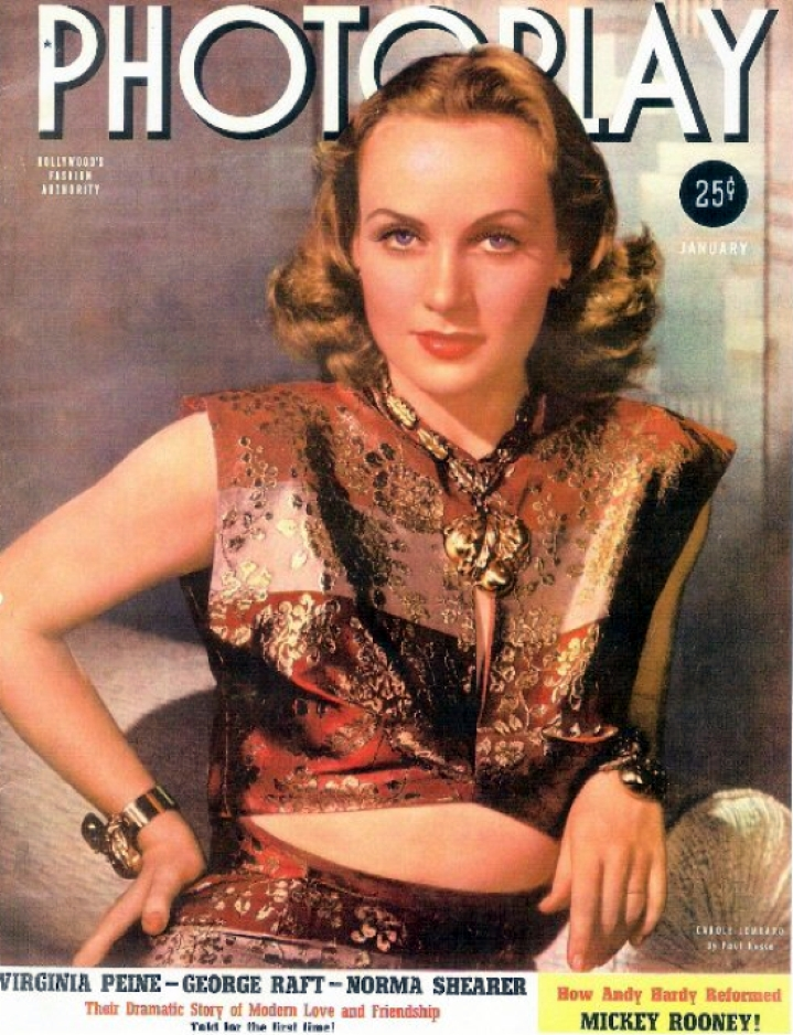 carole lombard photoplay january 1940 larger