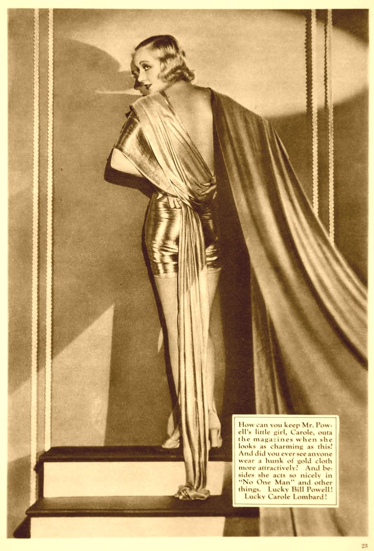 carole lombard fan magazine 1932 gold large sepia