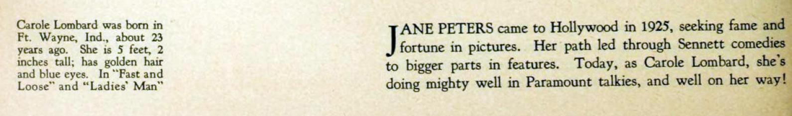 carole lombard photoplay feb 1931 caption