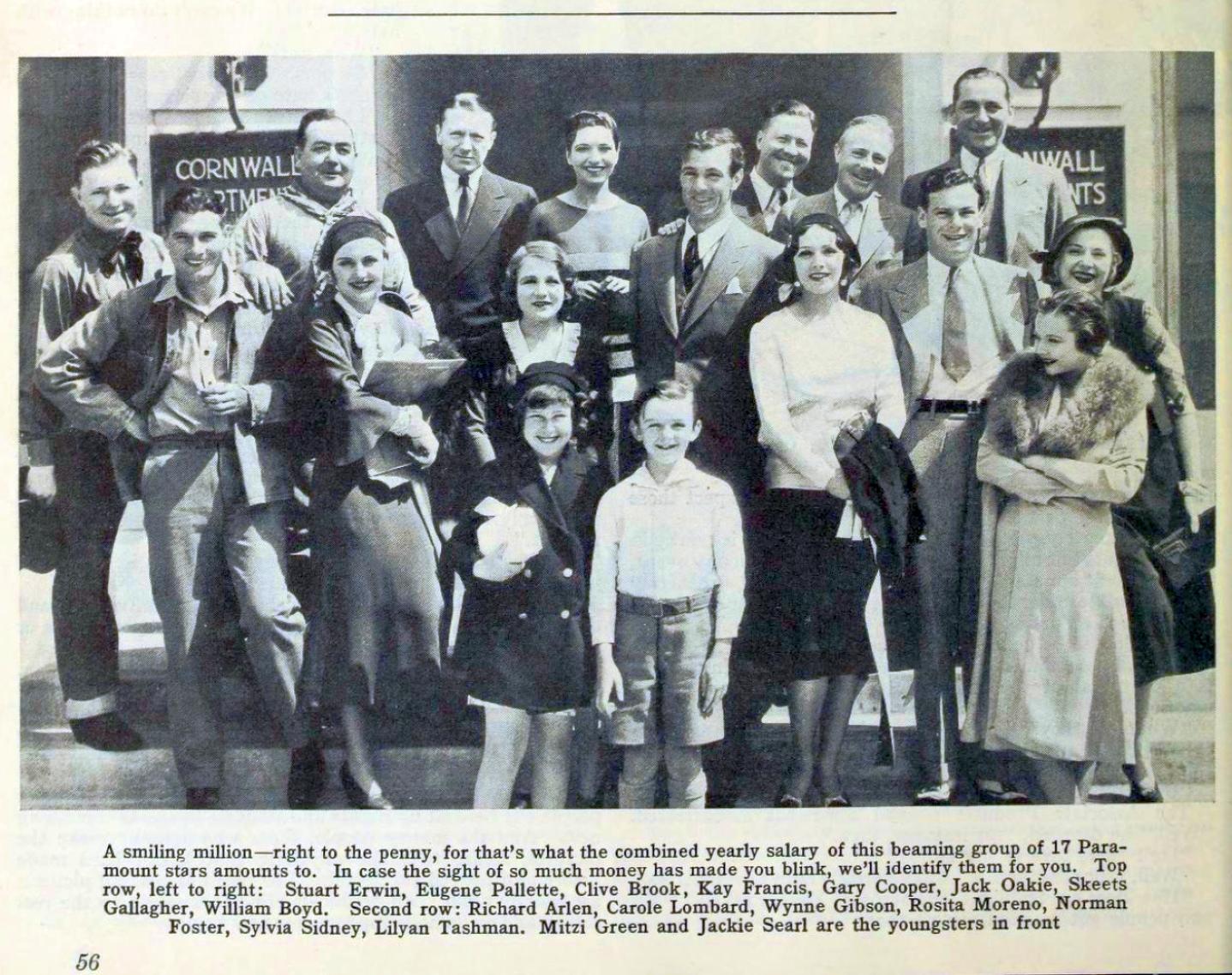 carole lombard photoplay july 1931 paramount group portrait large