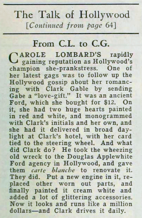 carole lombard motion picture july 1936 the talk of hollywood closeup