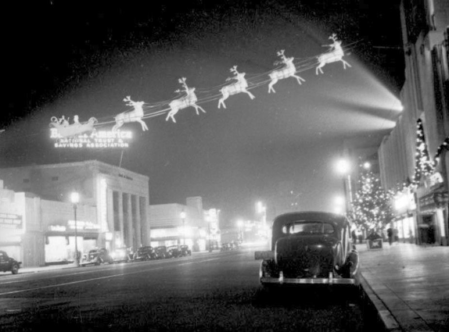 christmas 1937 wilshire boulevard eastbound