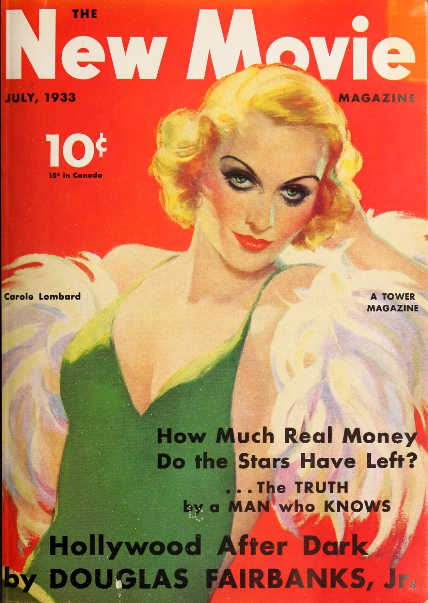 carole lombard the new movie magazine july 1933 cover large