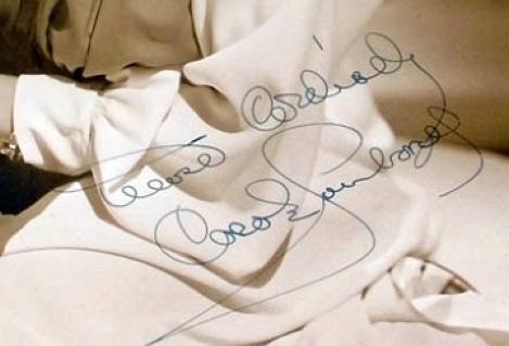carole lombard autograph 77a signature