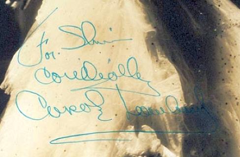 carole lombard autograph 78a signature