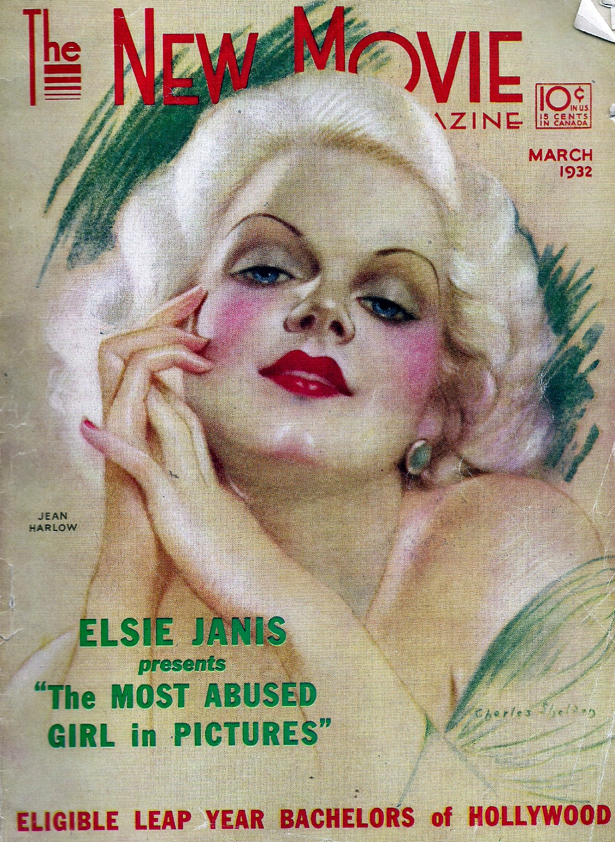 jean harlow the new movie magazine march 1932 cover large