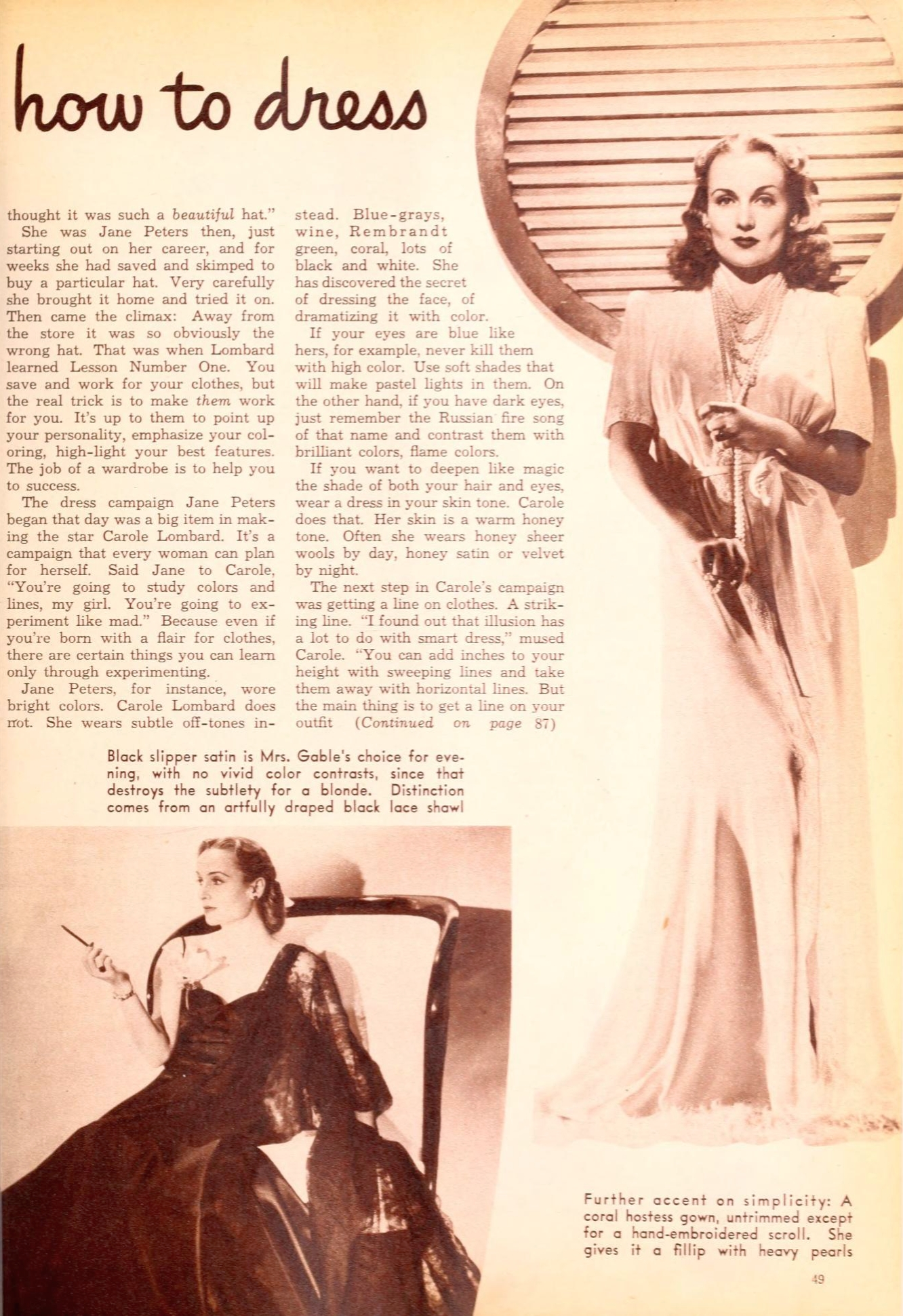 carole lombard photoplay february 1941ba