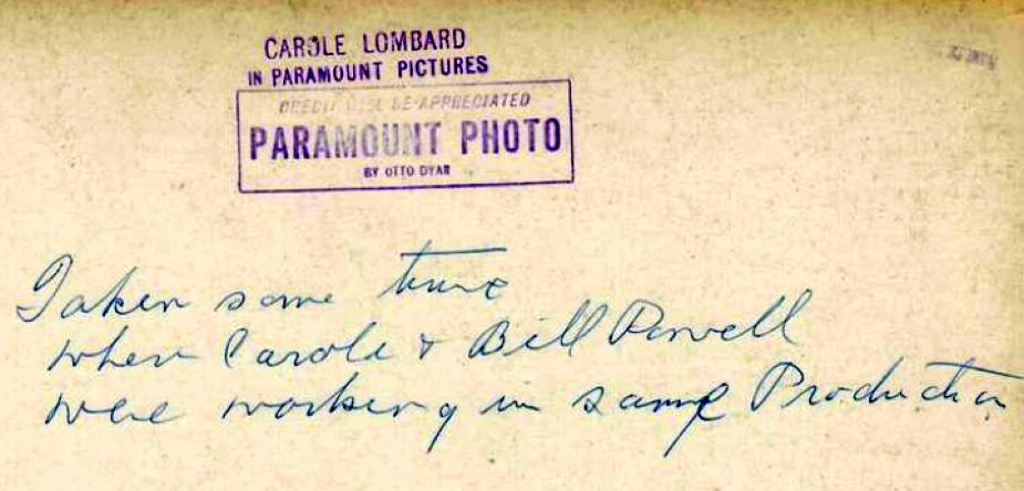 carole lombard autograph 81a back