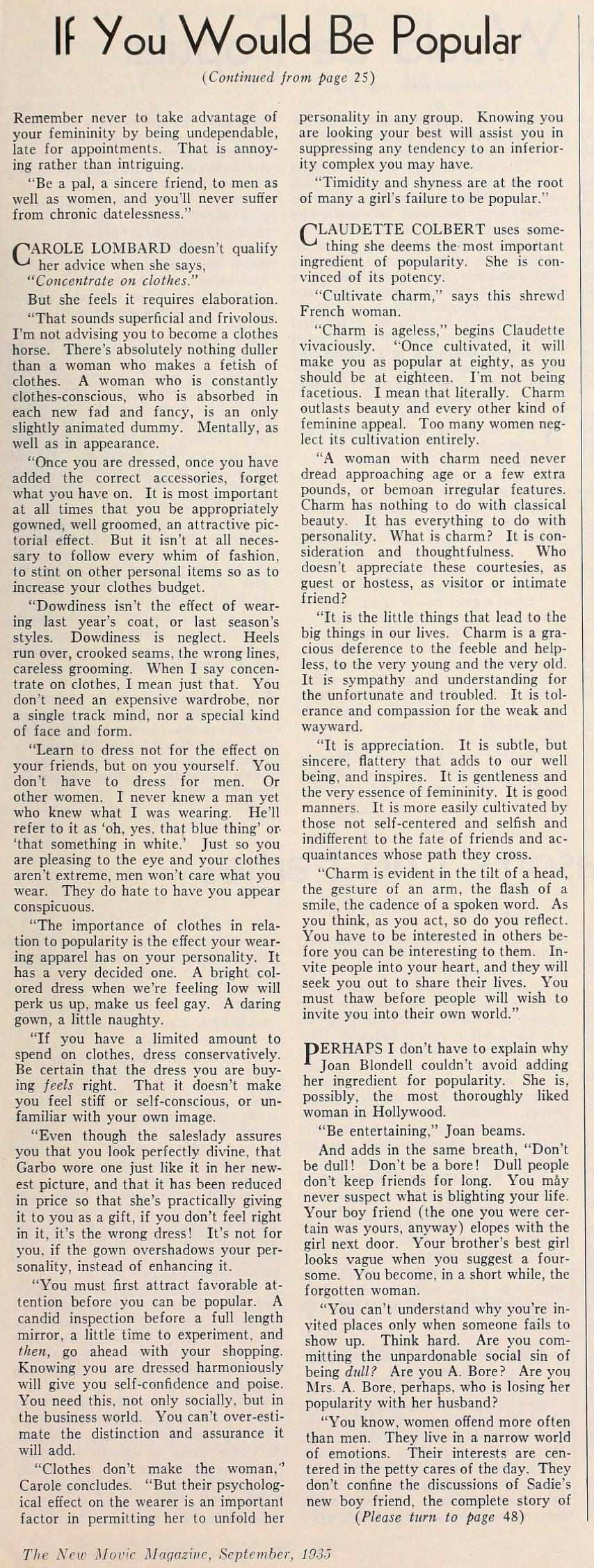 carole lombard the new movie magazine september 1935ba