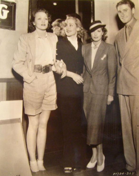 carole lombard 1935a party marlene dietrich lili damita errol