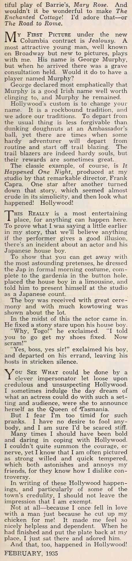 nancy carroll hollywood february 1935ca
