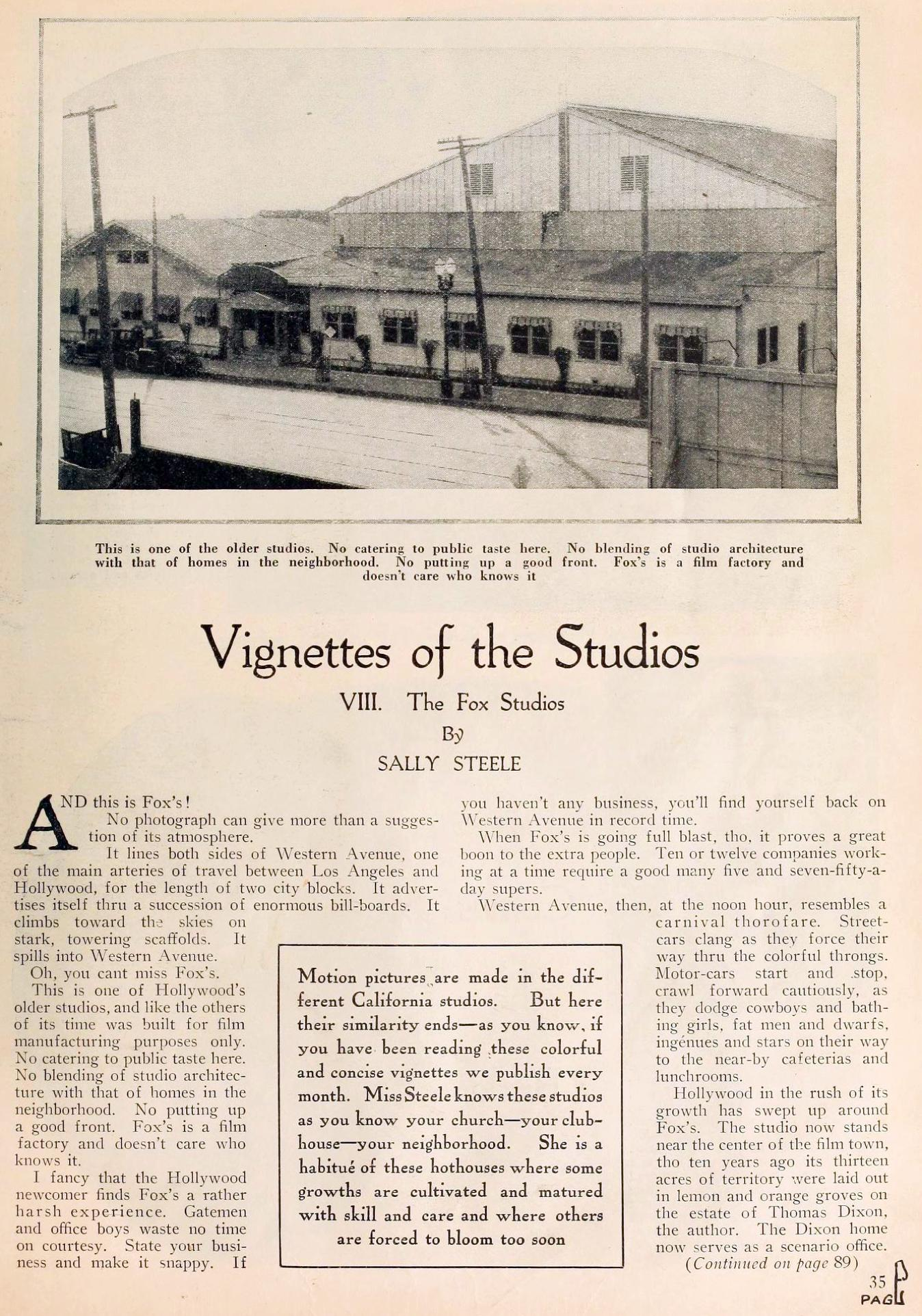 motion picture vignettes of the studios 08aa fox june 1924