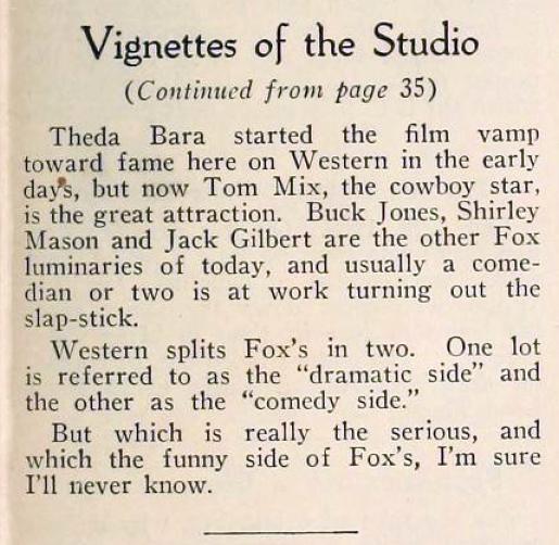 motion picture vignettes of the studios 08ba fox june 1924