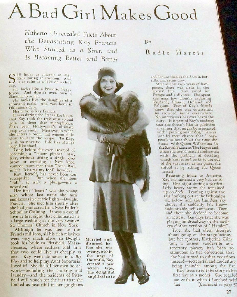 silver screen february 1931bc