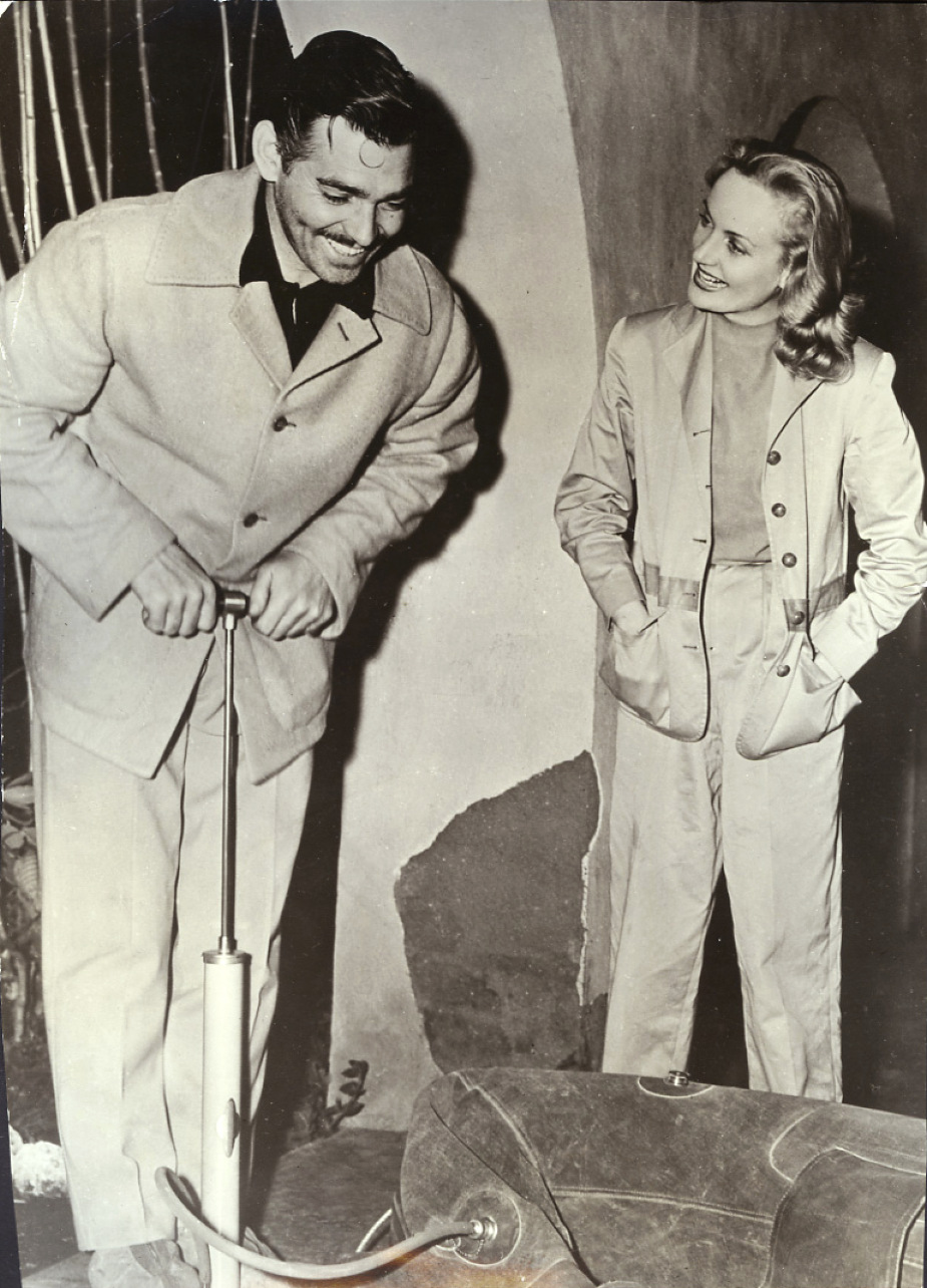 carole lombard clark gable 1940a duck hunting mexico front