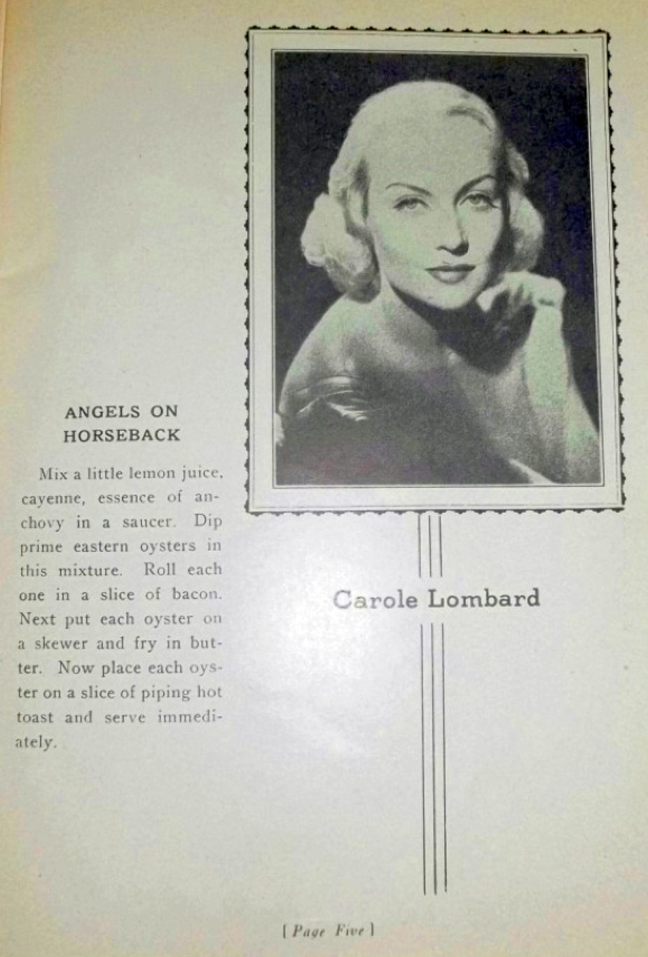 carole lombard foods and fashions of 1936 booklet 00b