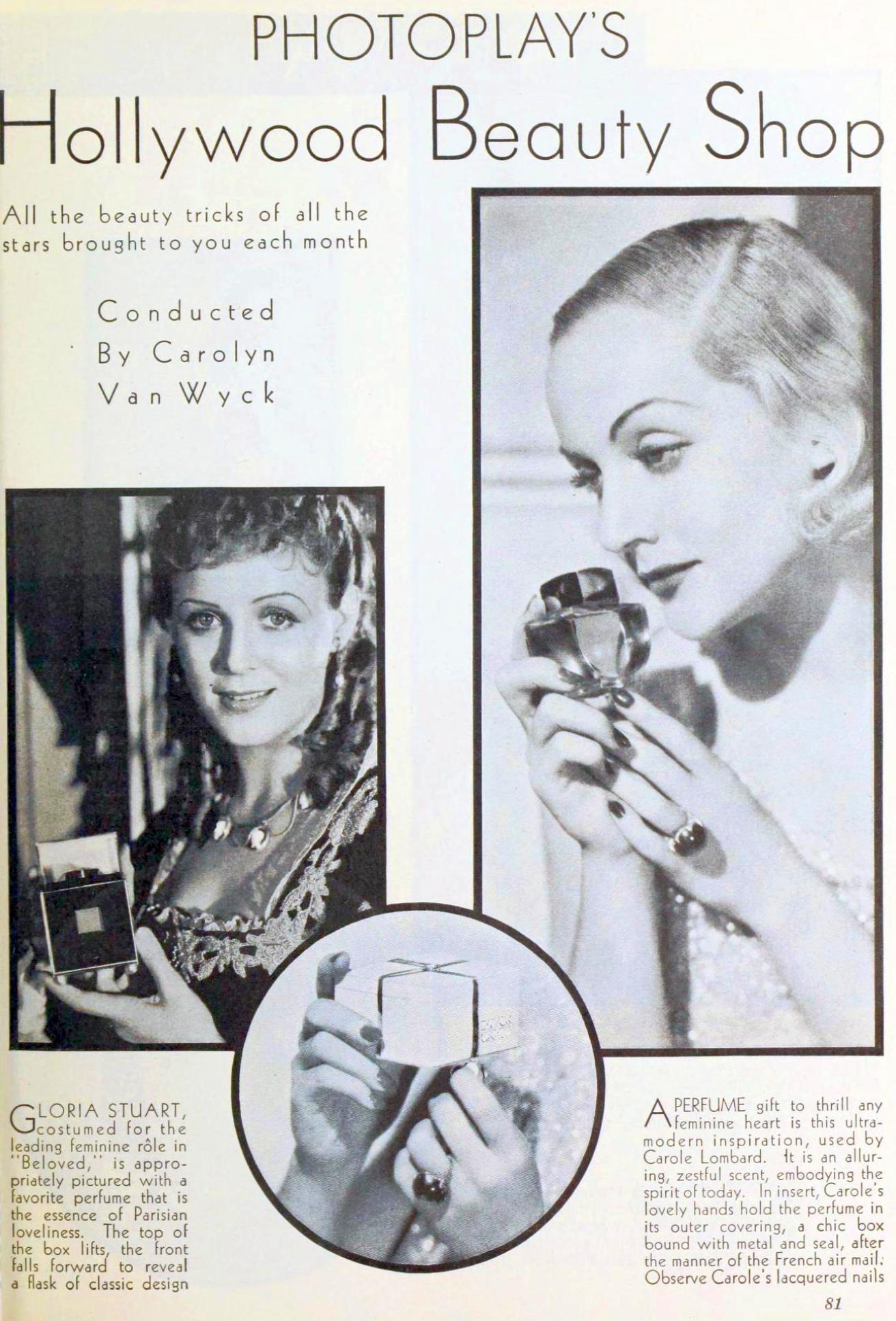 carole lombard photoplay january 1934eb