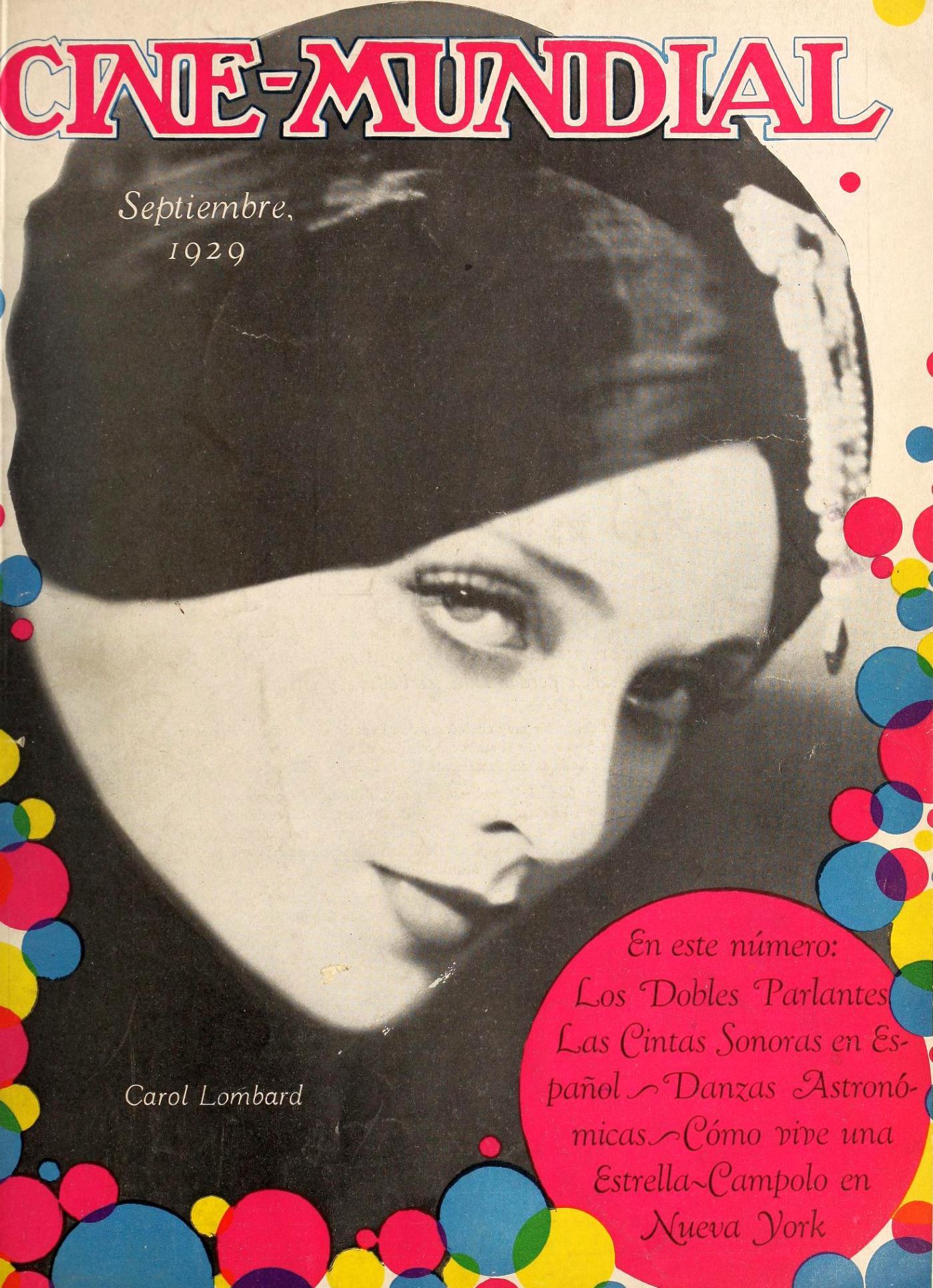carole lombard cine mundial september 1929b cover