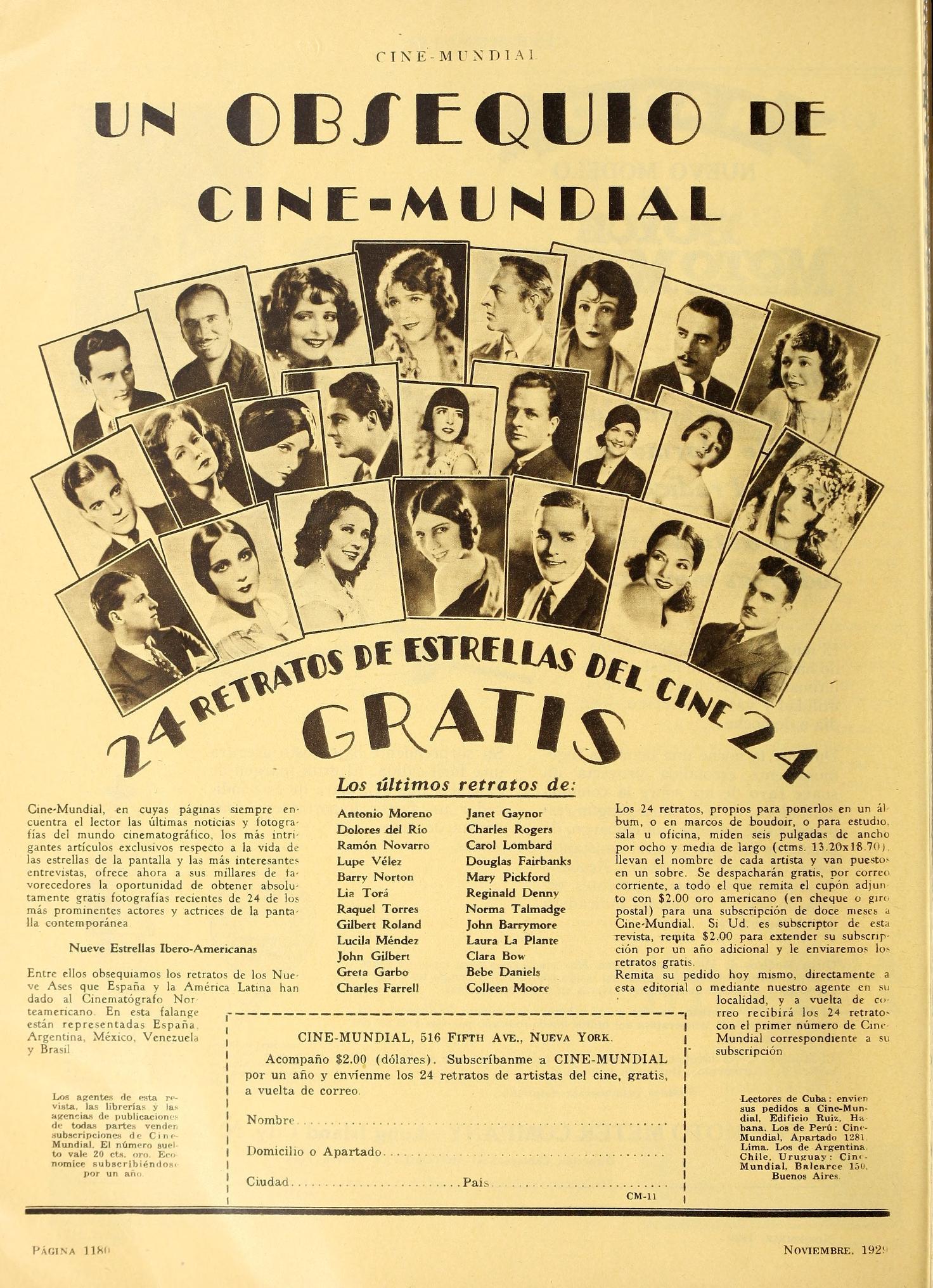 carole lombard cine mundial november 1929a