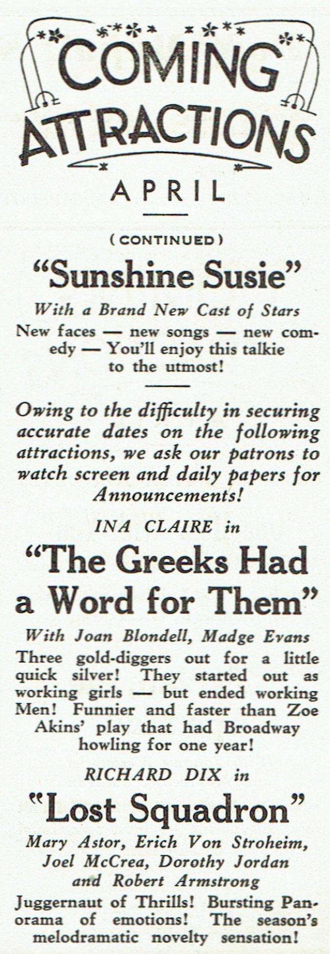 carole lombard publix theatre screen review april 1932kb