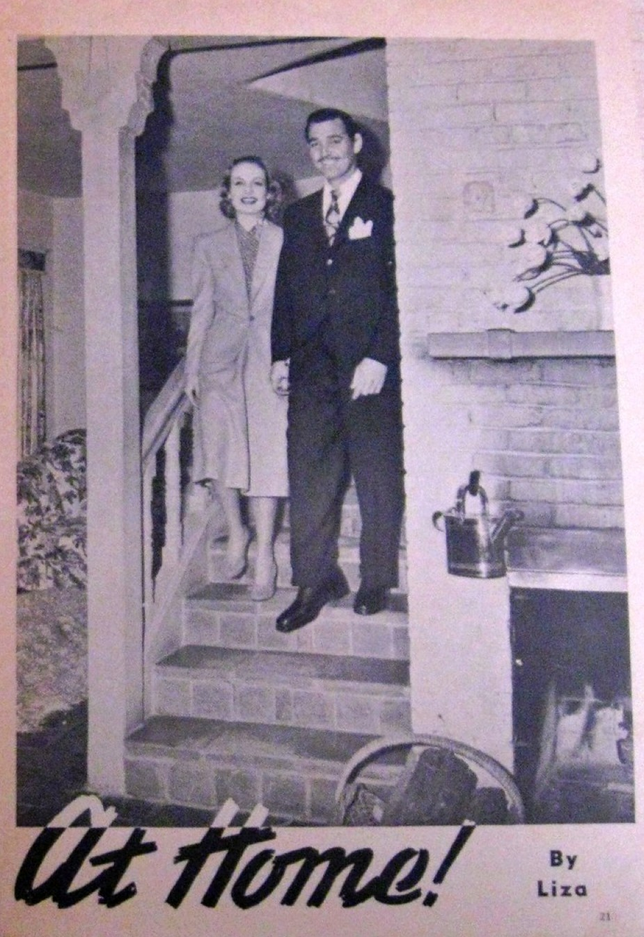 carole lombard screenland the clark gables at home 01a