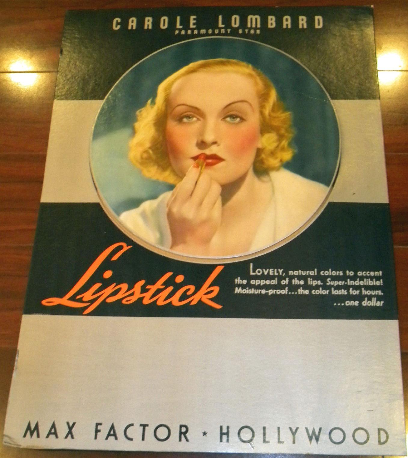 carole lombard max factor lipstick 00a