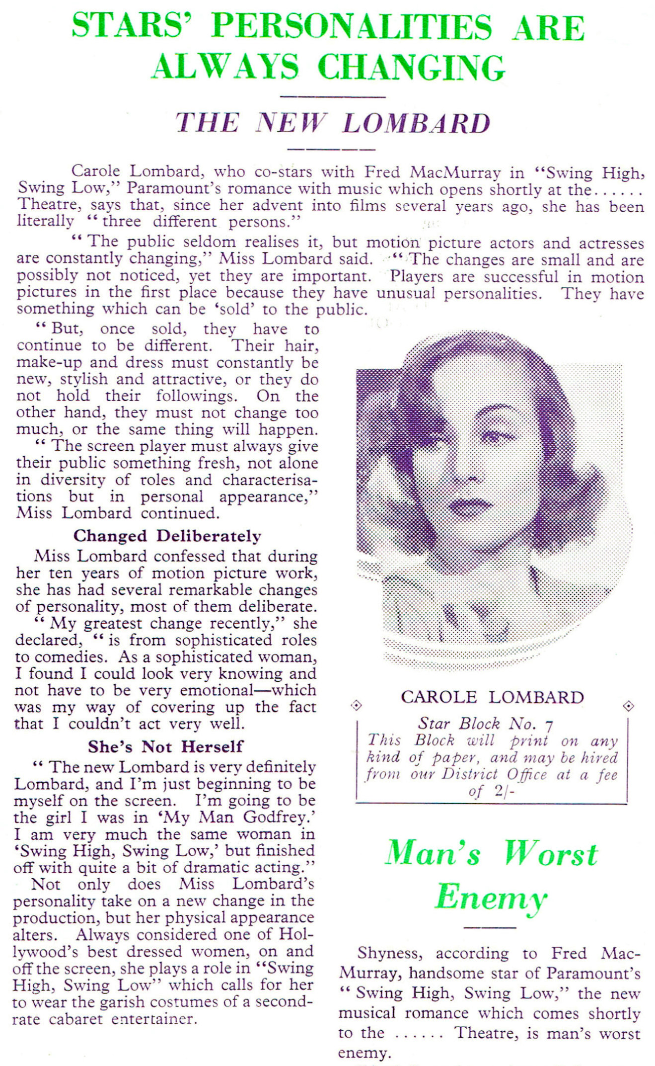 carole lombard swing high, swing low uk pressbook 04a