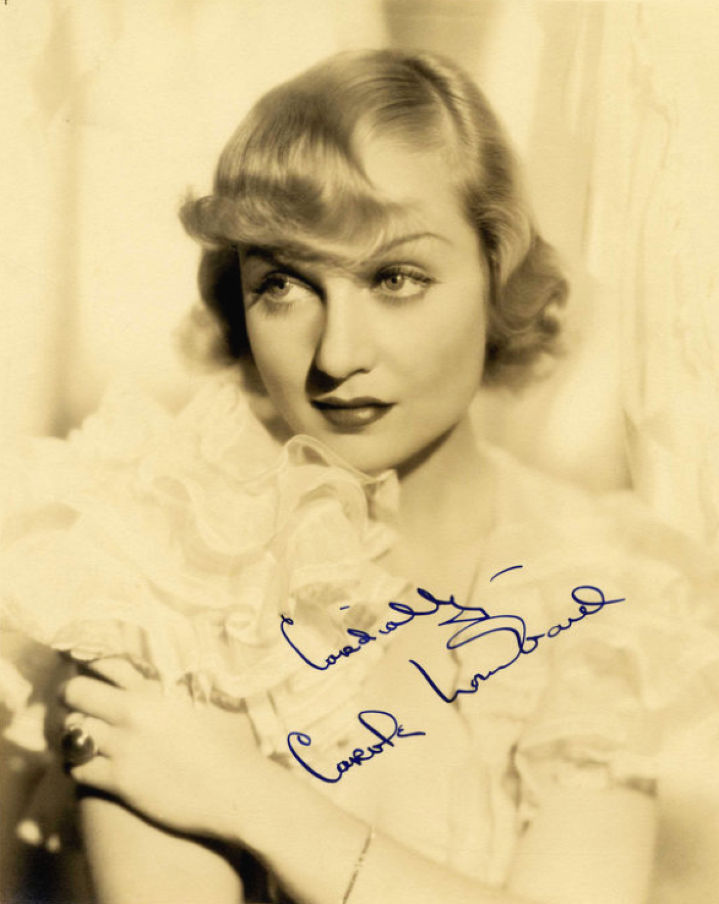 carole lombard autograph 56b