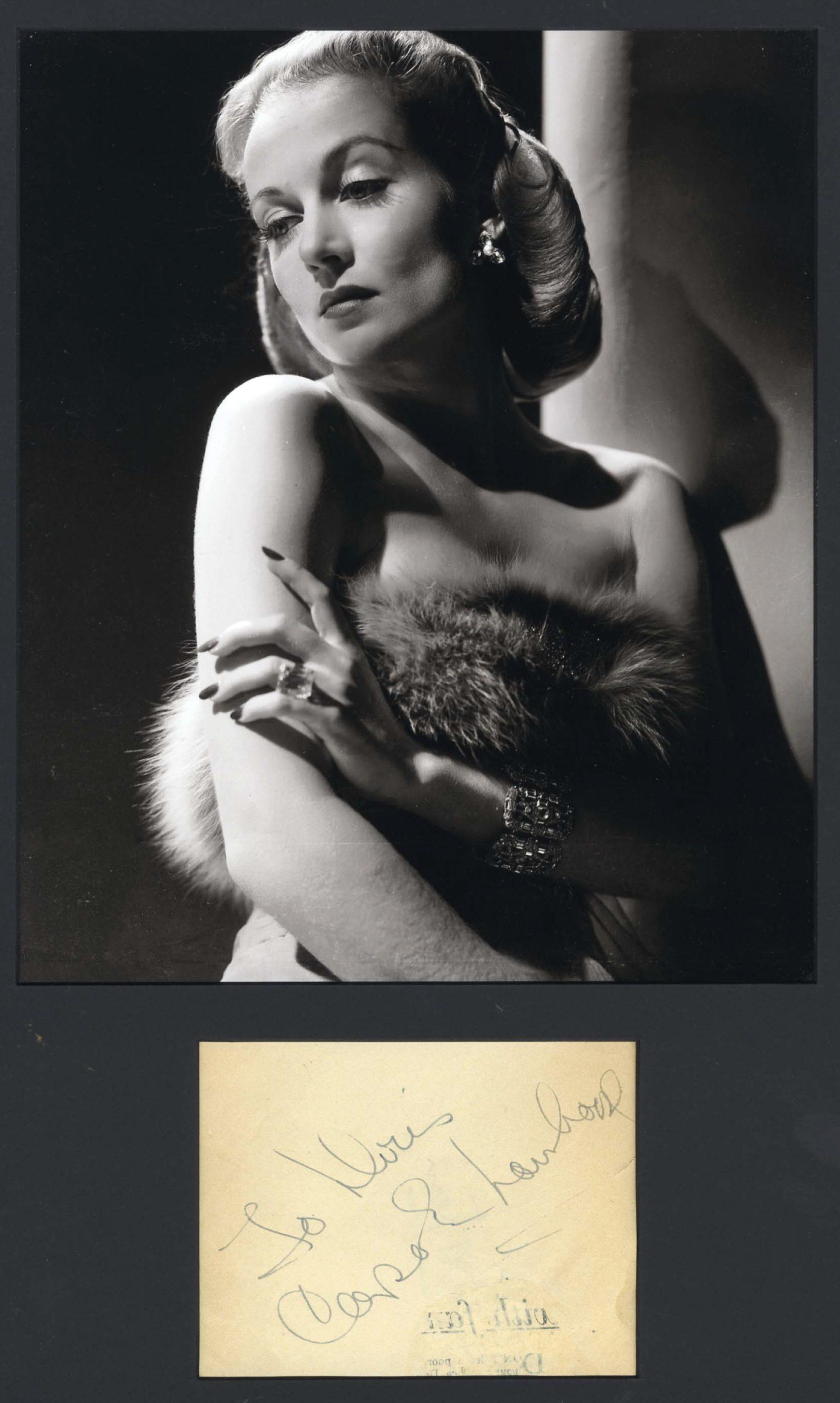 carole lombard autograph 87a