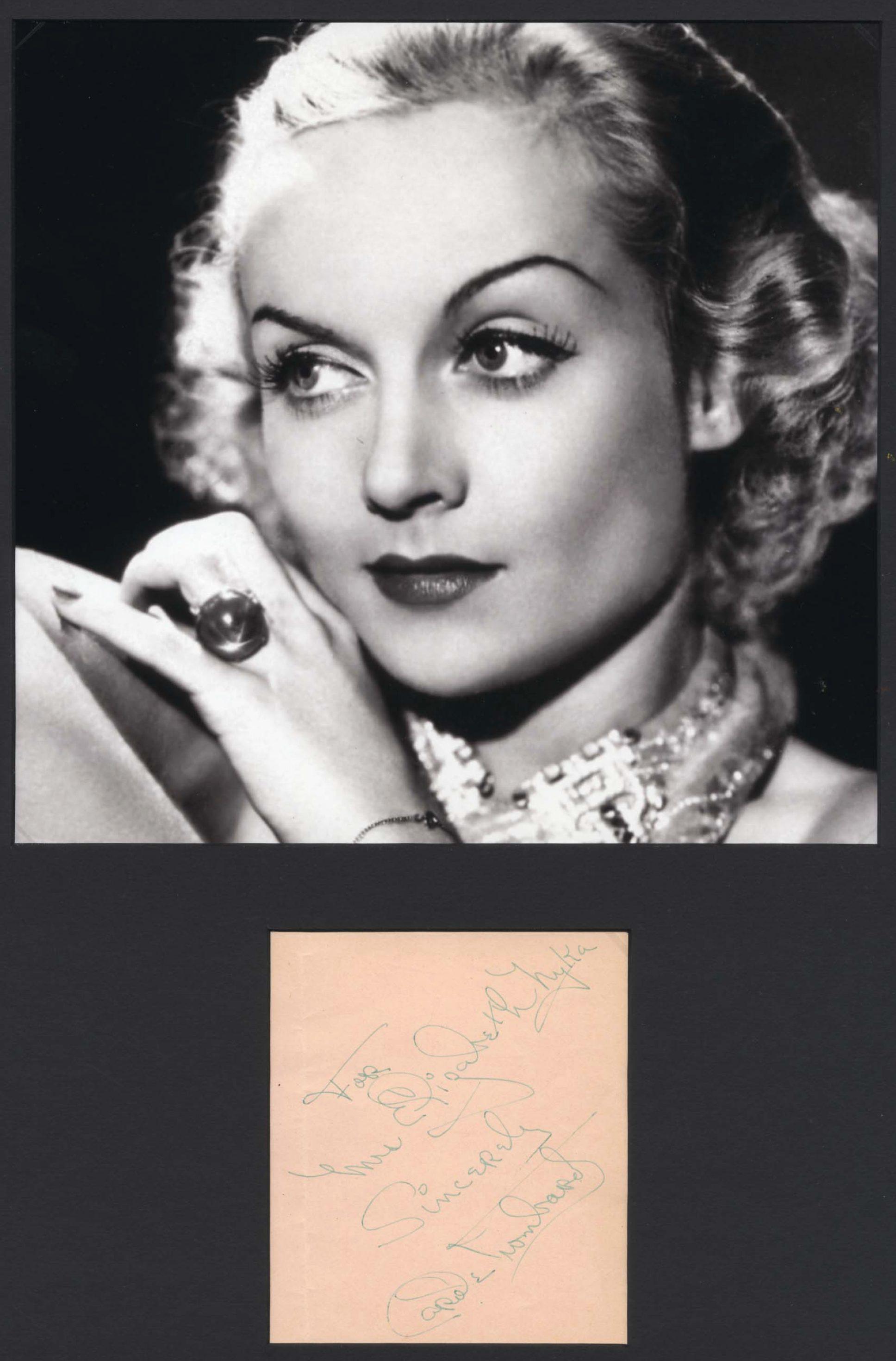 carole lombard autograph 88a