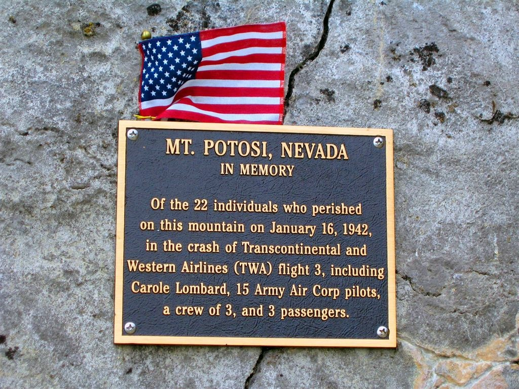 carole lombard crash site plaque