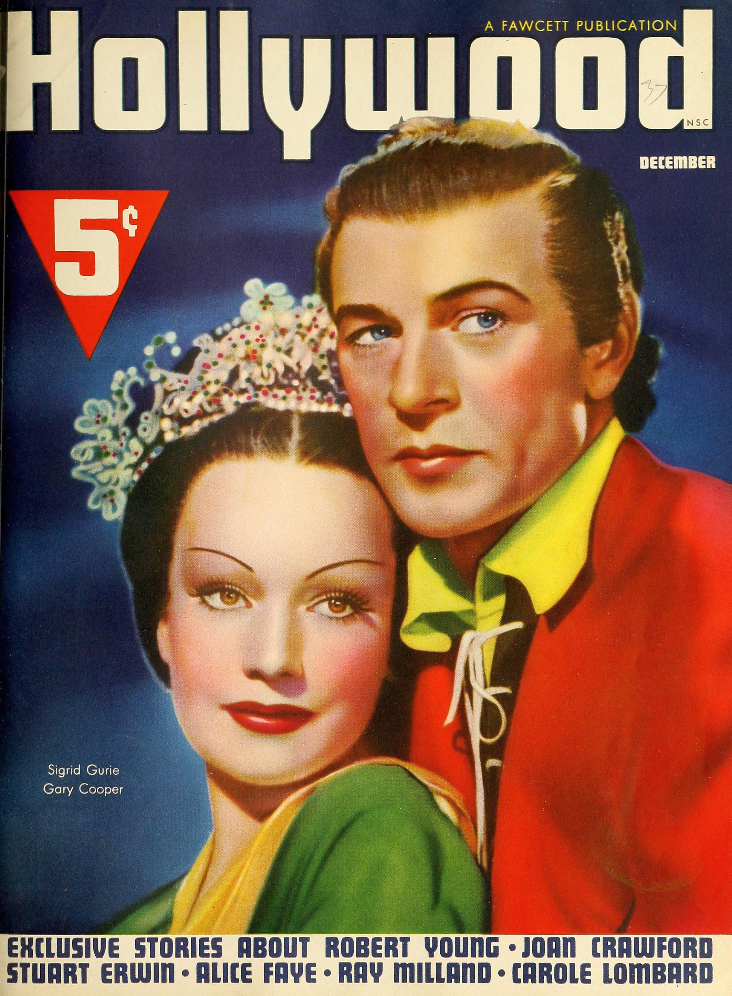 hollywood december 1937 cover large