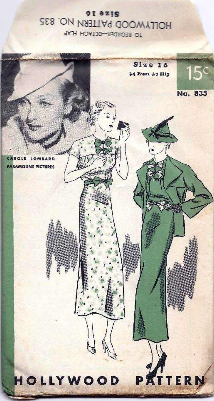 carole lombard hollywood pattern 835aa