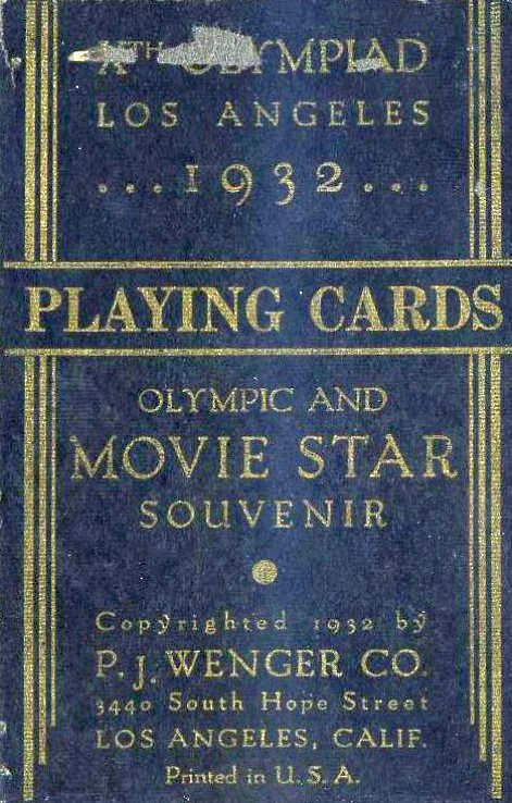 carole lombard 1932 olympics playing cards 03a