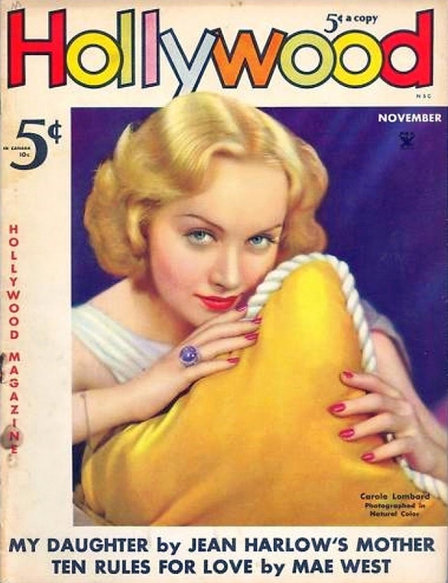 carole lombard hollywood november 1935a color
