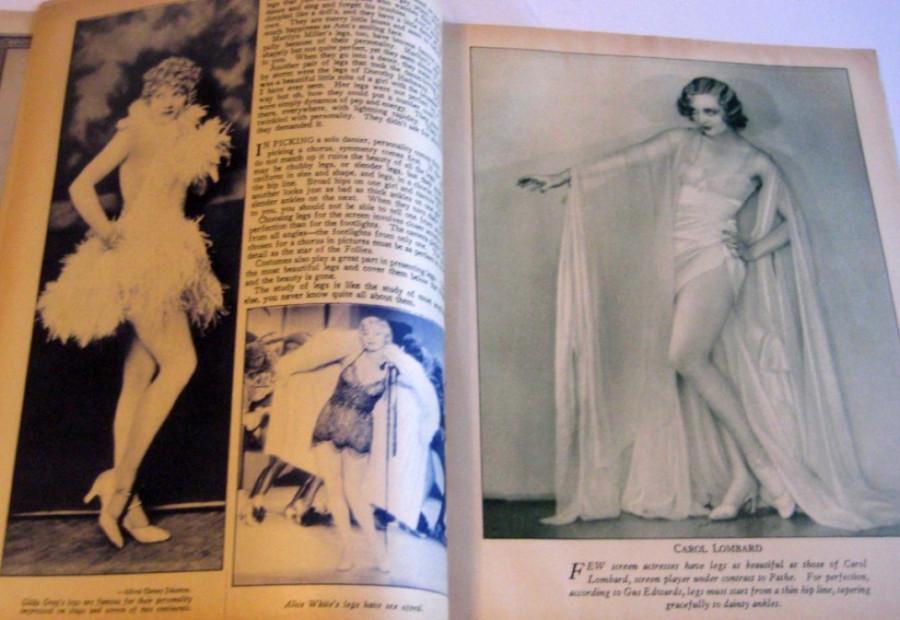 carole lombard screen art november 1929bb