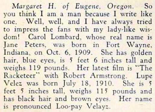 carole lombard screenland january 1930fb