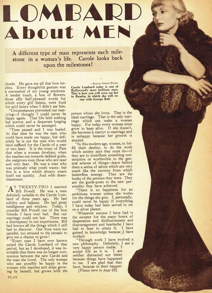 carole lombard screen play february 1935ca