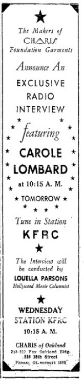 carole lombard 042434 oakland tribune