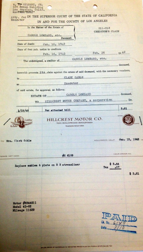 carole lombard clark gable 1942 estate document 00a