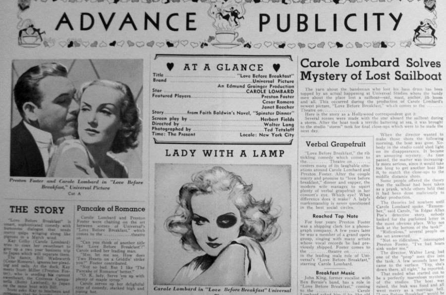 carole lombard love before breakfast press kit 04a