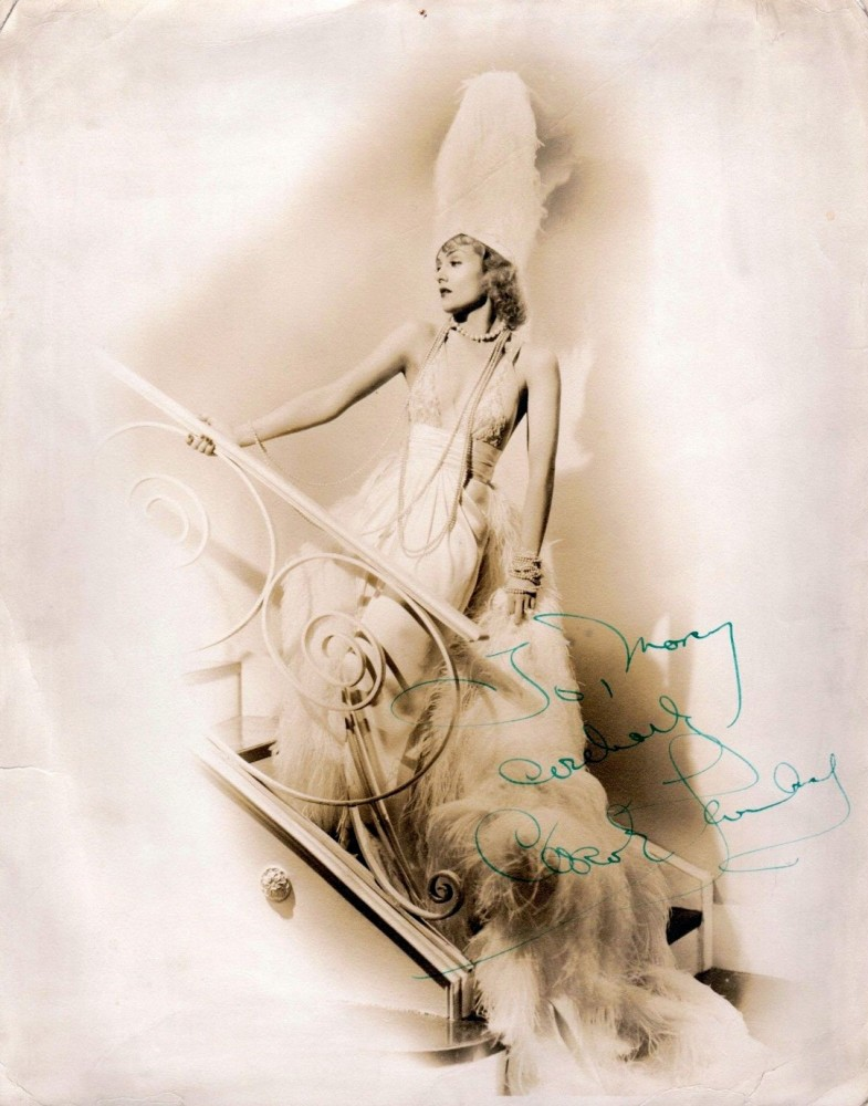 carole lombard autograph 94b
