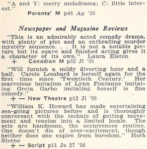 carole lombard motion picture review digest september 1936 the princess comes across 01a