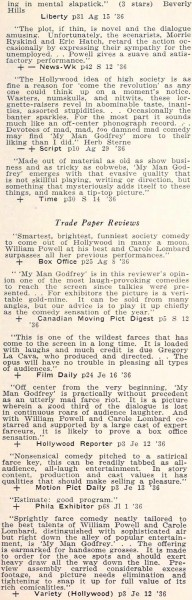 carole lombard motion picture review digest september 1936 my man godfrey 01a